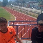 Ahmad Bakr und Mario Herberich nach dem Cooper-Test