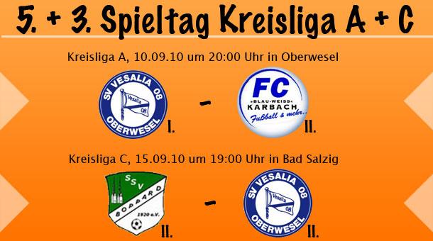 2. Runde Krombacher Kreispokal & 5. Spieltag Kreisliga A