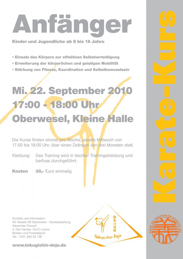 Karate Anfängerkurs, 22.09.2010