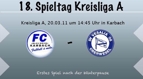 FC Karbach II - SV Oberwesel, 20.03.2011, 14:45 Uhr