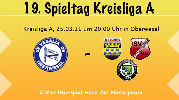 SV Oberwesel - SG Sohren am 25.03.11 um 20:00 Uhr