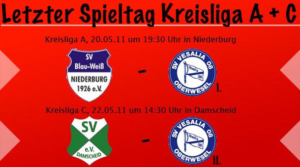 Letzter Spieltag in der Kreisliga A & C