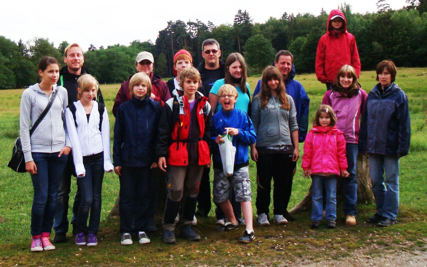 Das Sommerzeltlager beim Ausflug im Hochwildschutzpark Rheinböllen