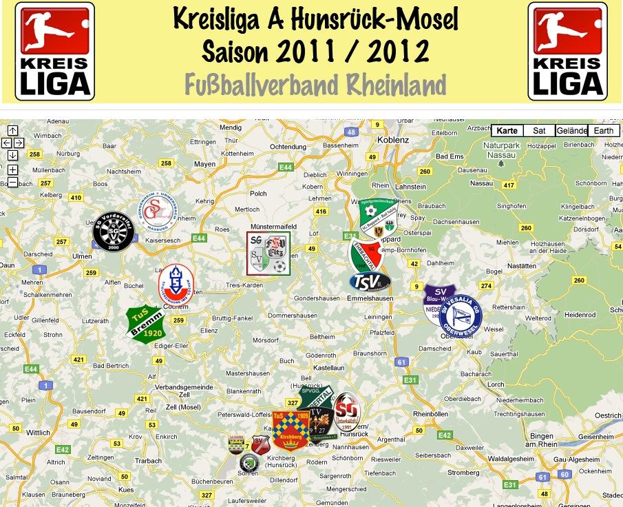 Teams der Kreisliga A