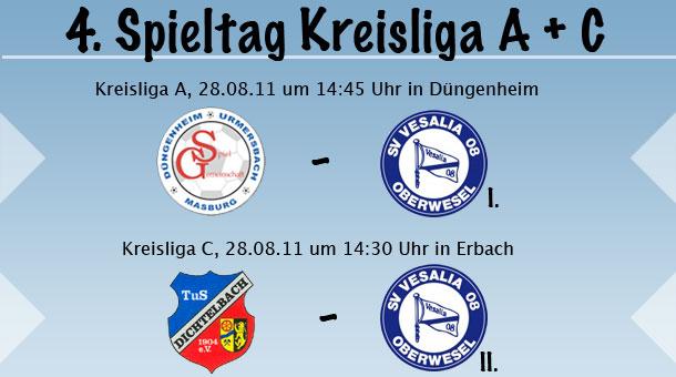 4. Spieltag in der Kreisliga A & C
