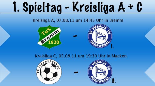 1. Spieltag in der Kreisliga A und C
