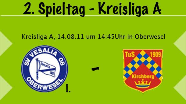 2. Spieltag der Kreisliga A