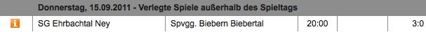 SG Ehrbachtal Ney - Spvgg. Biebern Biebertal 3:0