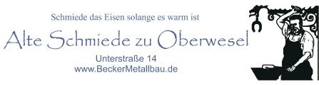 Becker Metallbau GmbH | 55430 Oberwesel, Unterstraße 14, 06744 219