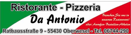 Ristorante-Pizzeria Da Anotnio | 55430 Oberwesel, Rathausstr. 9, 06744 290