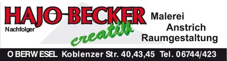Becker Hajo Nachf. Malergeschäft Raumausstattung | 55430 Oberwesel, Koblenzer Str. 43, 06744 423