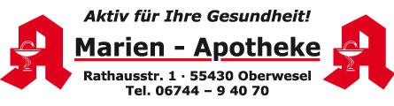 Marien Apotheke | Rathausstr. 1 | 55430 Oberwesel | 06744-94070