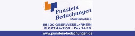 Punstein Bedachungen GmbH | 55430 Oberwesel, Oberstraße 3, 06744 203