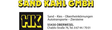 Sand Kahl GmbH | 55430 Oberwesel, Am Hafen, 06744 7001