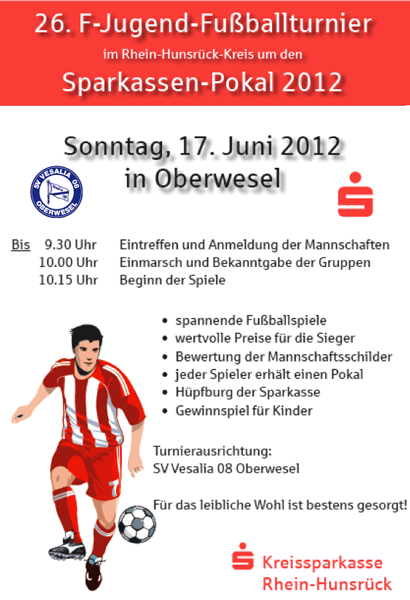 26. F-Jugend-Fußballturnier um den Sparkassen-Pokal 2012 im Rhein-Hunsrück Kreis