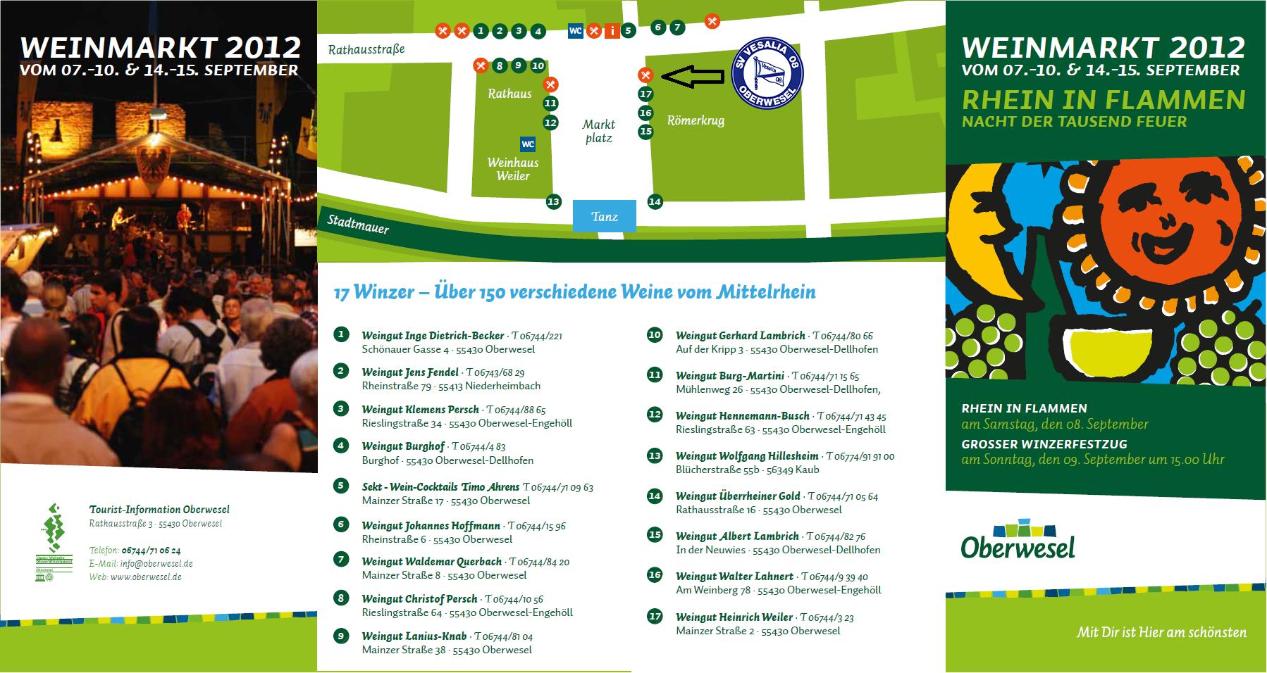 Lageplan Weinmarkt 2012