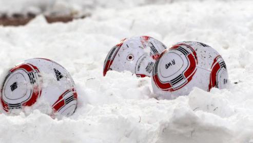 Schnee und Kälte lassen kein Testspiel zu