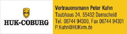 HUK-Coburg Peter Kuhn | 55432 Damscheid, Taubhaus 24, 06744 94300