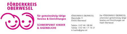 Förderkreis Oberwesel | Oberstraße 11 |55430 Oberwesel | 06744-8884